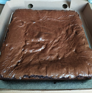 Whole tray of chocolate fudge brownie