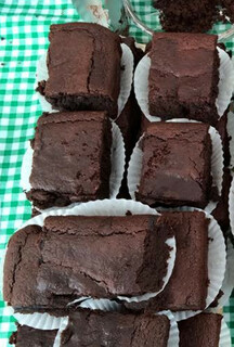 Selection of chocolate beetroot brownies
