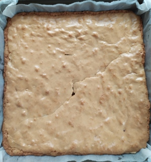 Whole tray of chocolate chip blondie, uncut
