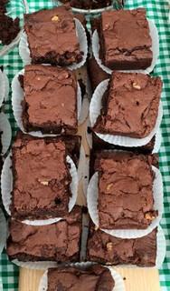 Board of chocolate fudge brownies
